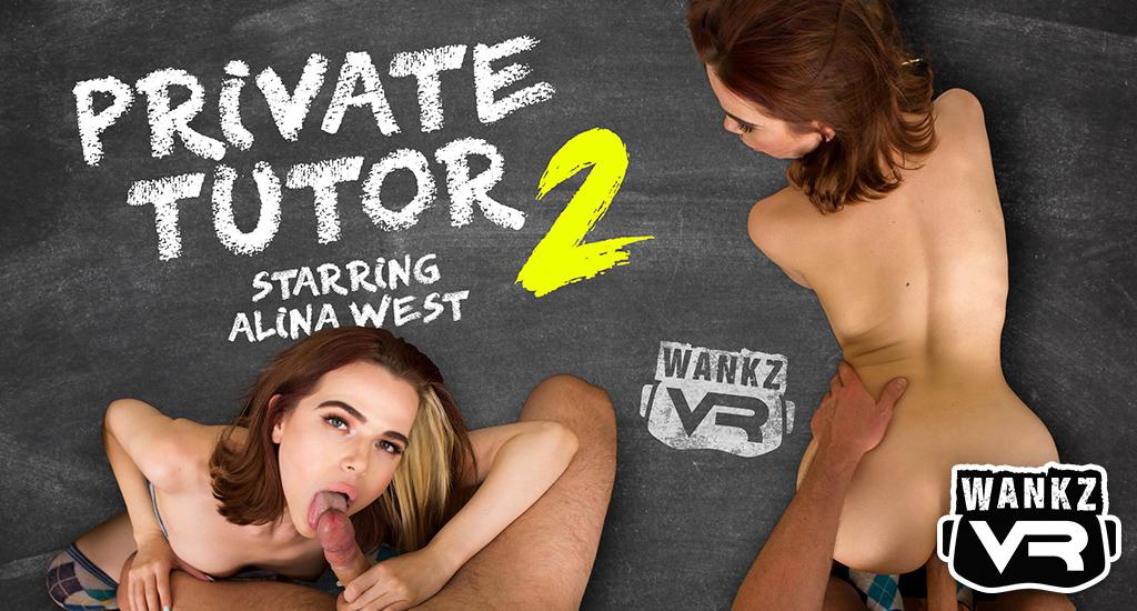 Alina West VR Porn - Private Tutor 2 - WankzVR