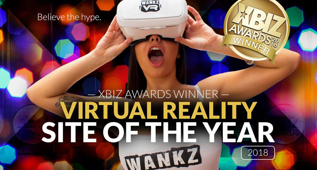 WankzVR Wins VR Site of the Year - XBIZ