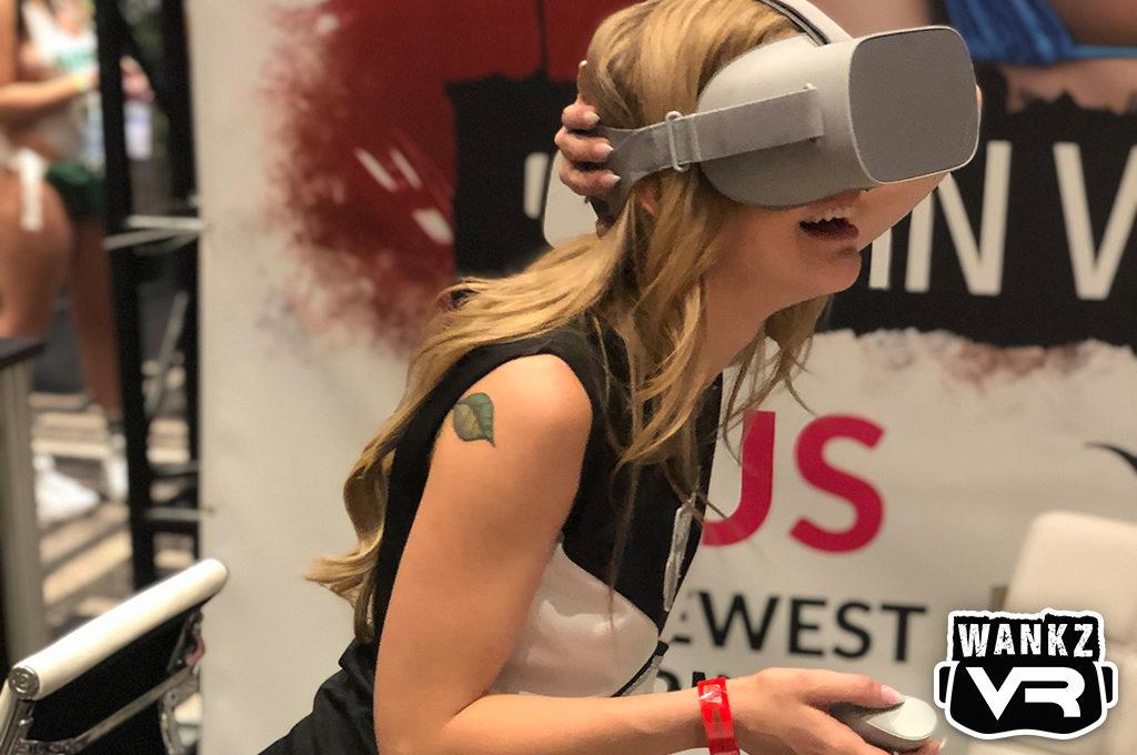Kali Roses in VR - WankzVR Booth, 2019 AVN Show